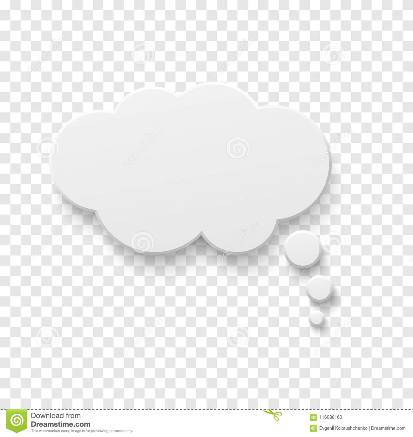 Vector White 3d Speech Bubble Concept Royalty-Free Stock