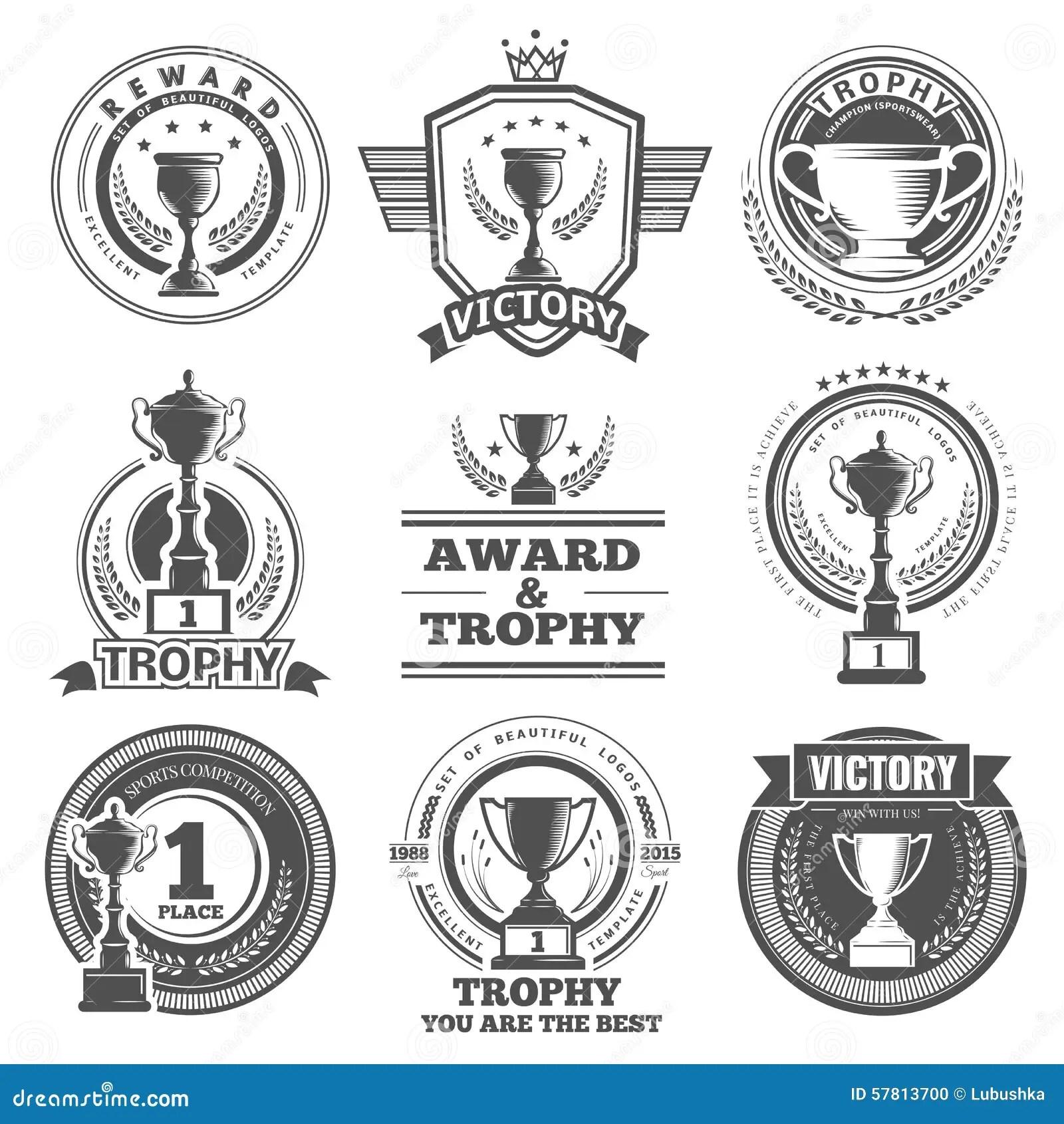 Vector winner logos stock vector. Illustration of badge