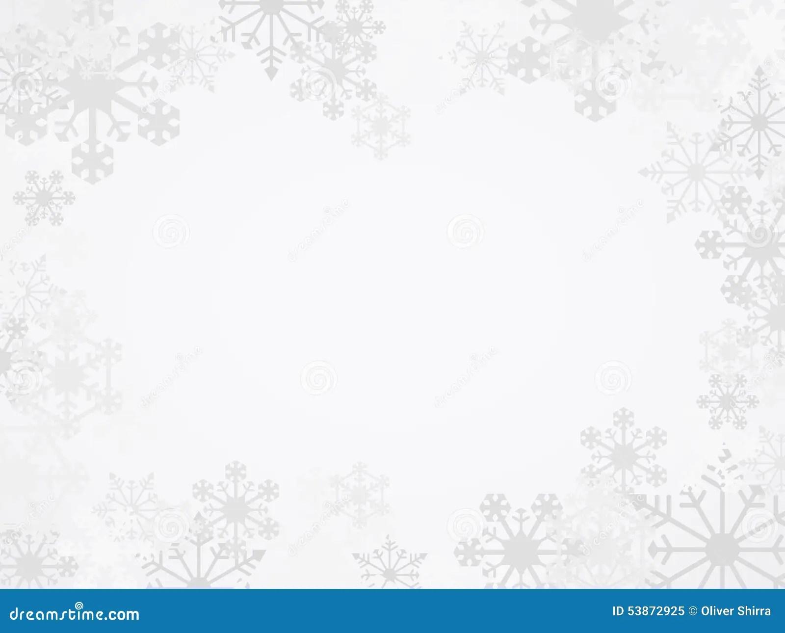 Vector Winter Snowflake Background Stock Vector