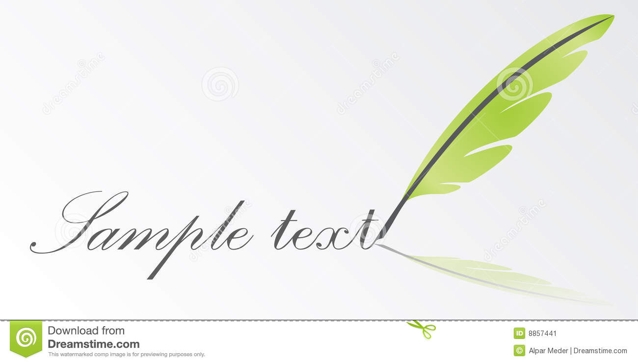 Vector Writing Feather Stock Image  Image 8857441