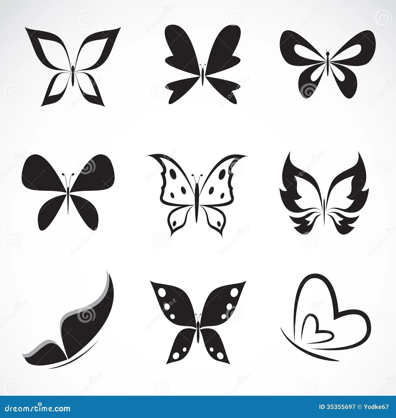 Vectorgroep Vlinder Vector Illustratie Illustratie