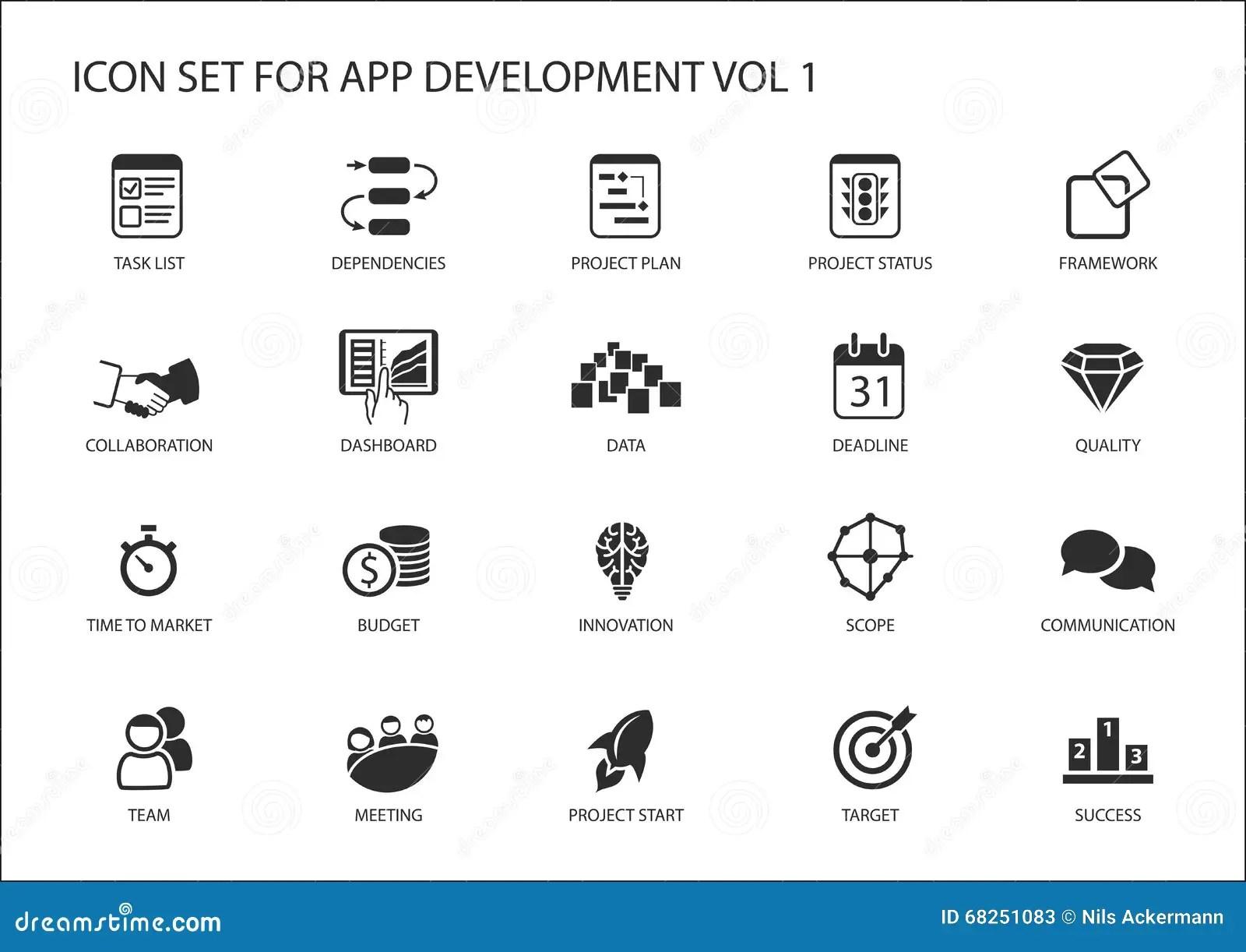 Vectorpictogram Dat Voor App/toepassingsontwikkeling Wordt