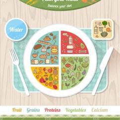 Healthy Plate Diagram Dell Optiplex 390 Motherboard Vegan Diet Stock Vector Image Of Calcium
