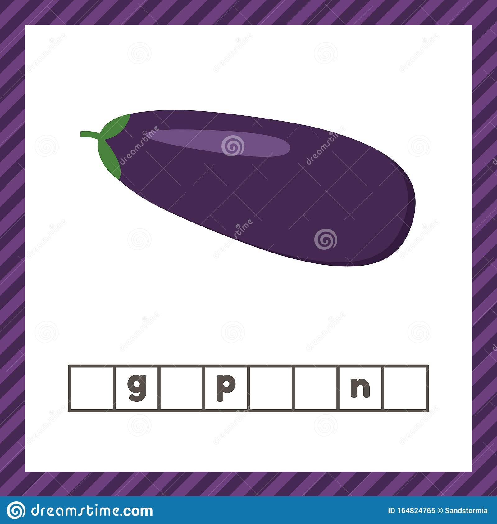 Vegetable Eggplant Educational Logic Worksheet For