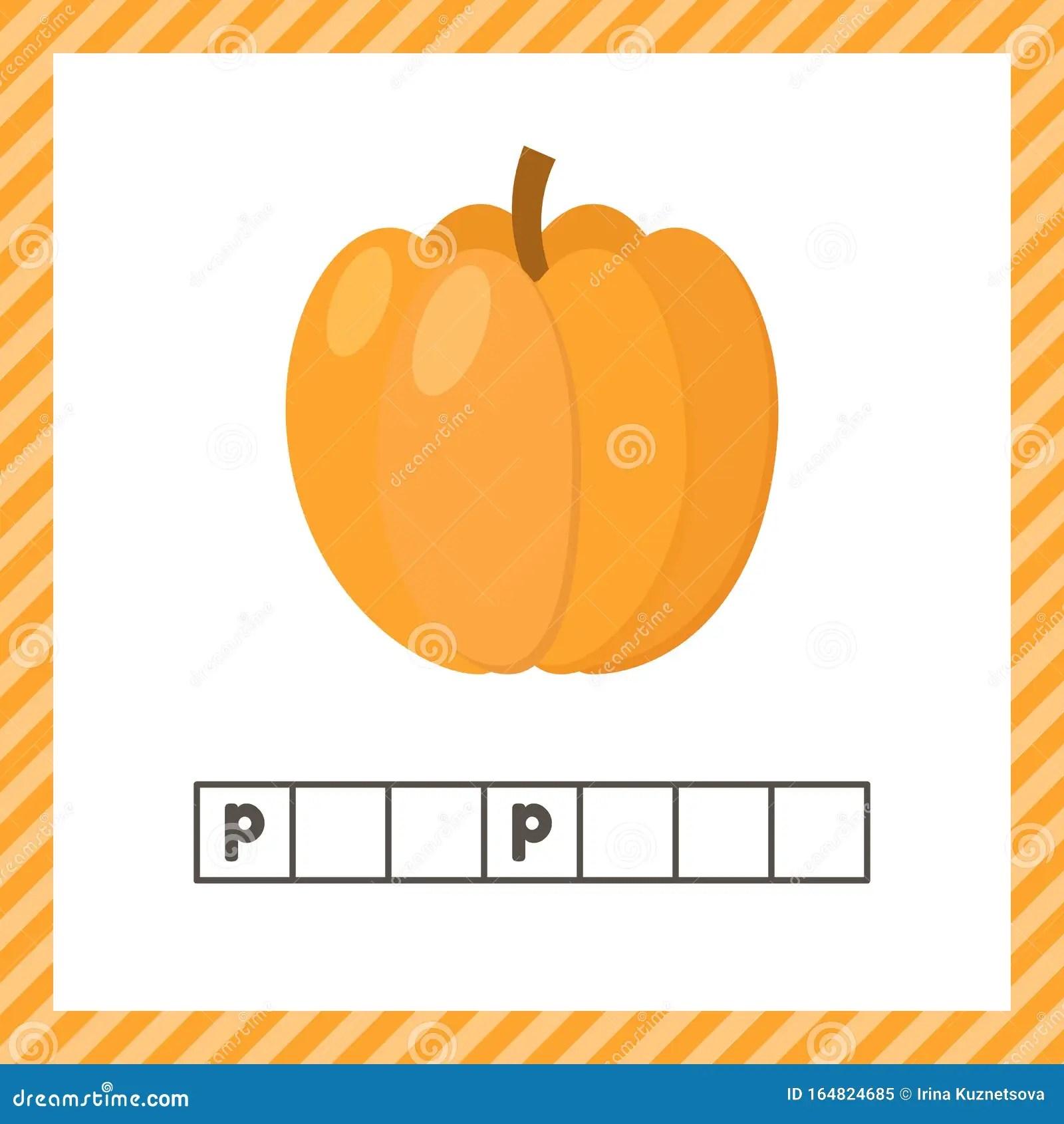 Vegetable Pumpkin Educational Logic Worksheet For