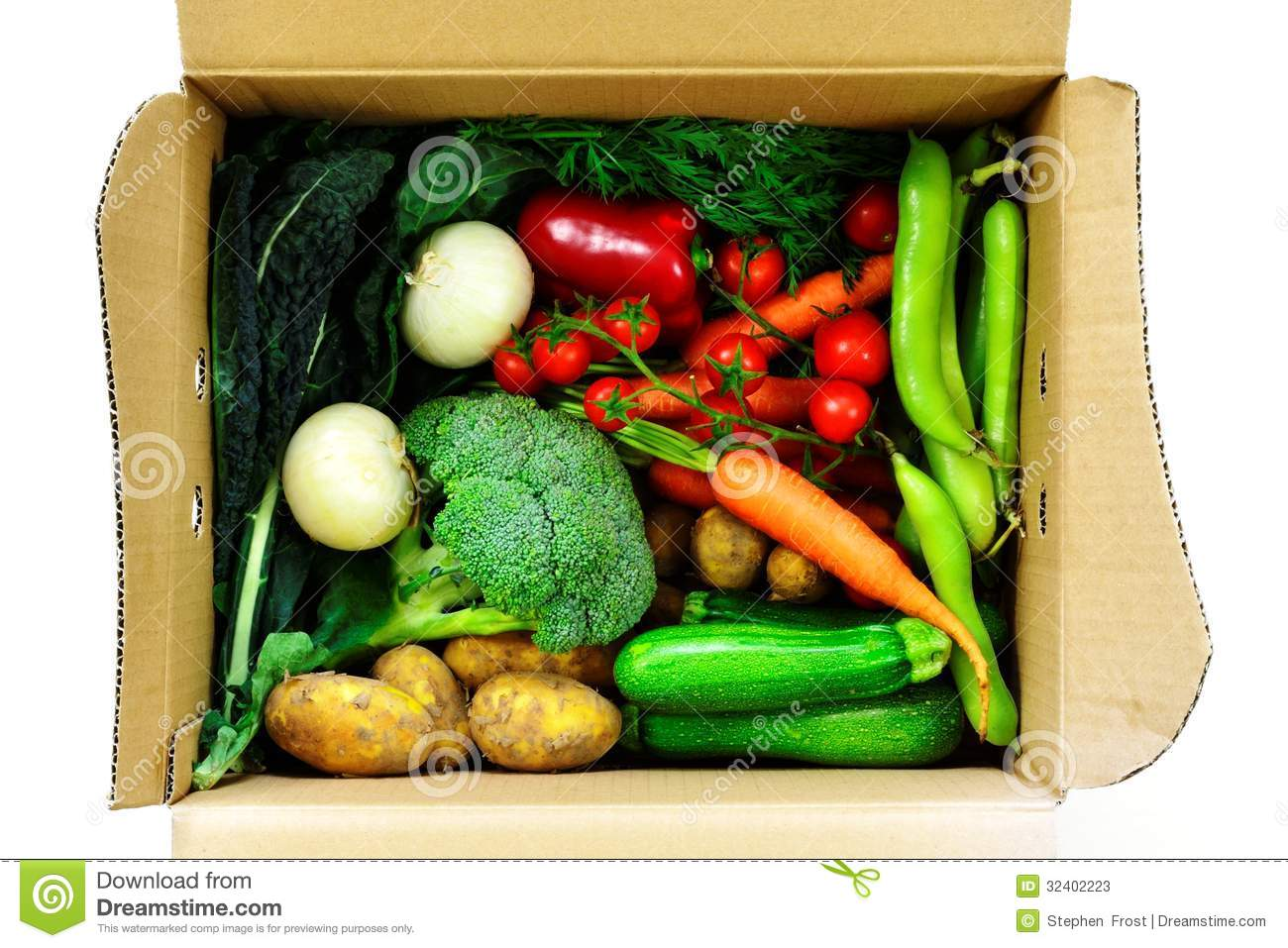 Clipart Pictures Tomatoes Vegetable Selection In Box Stock Photos Image 32402223