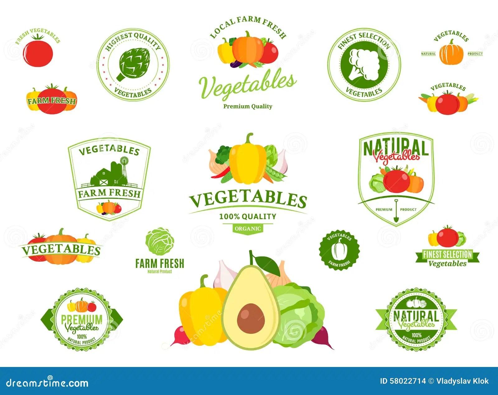 Vegetable Label Worksheet