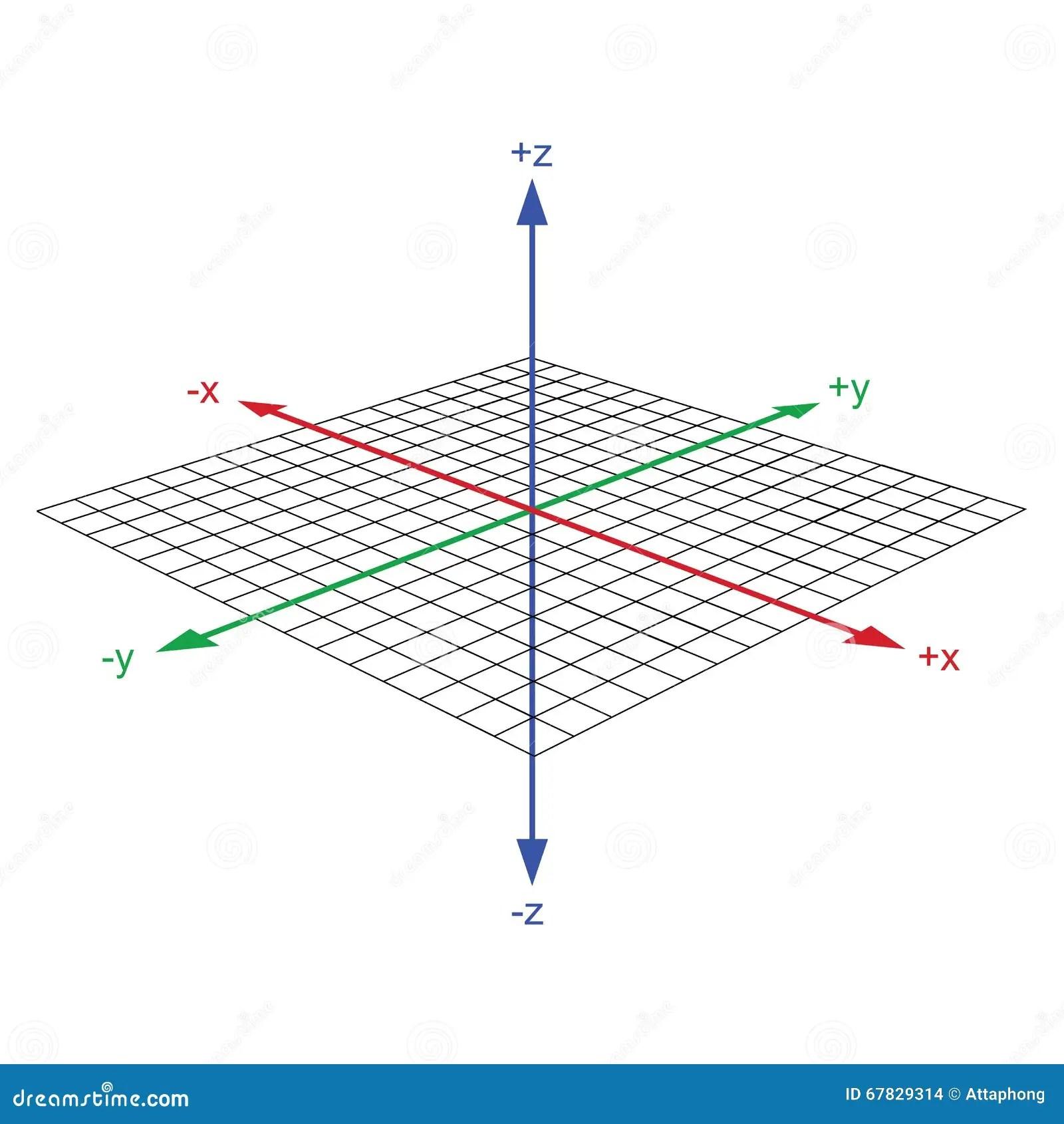 Vektor Der Koordinatenachse 3d Vektor Abbildung