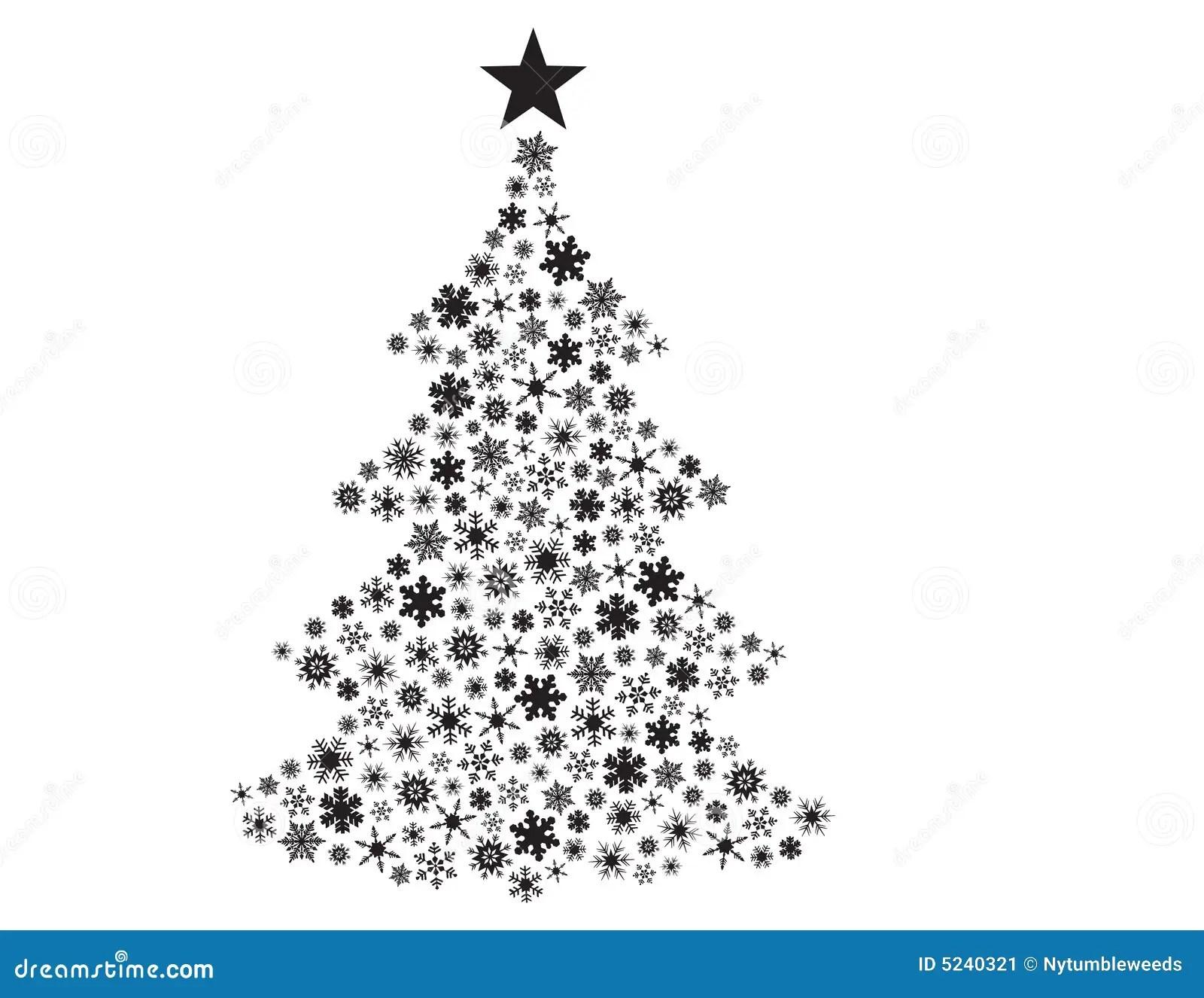 Vektorschneeflocken In Der Weihnachtsbaumform Vektor