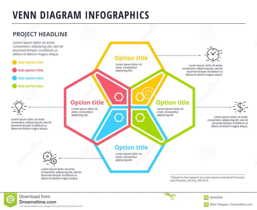 medium resolution of venn diagram with 4 circles infographics template design vector overlapping shapes for set or logic graphic illustration
