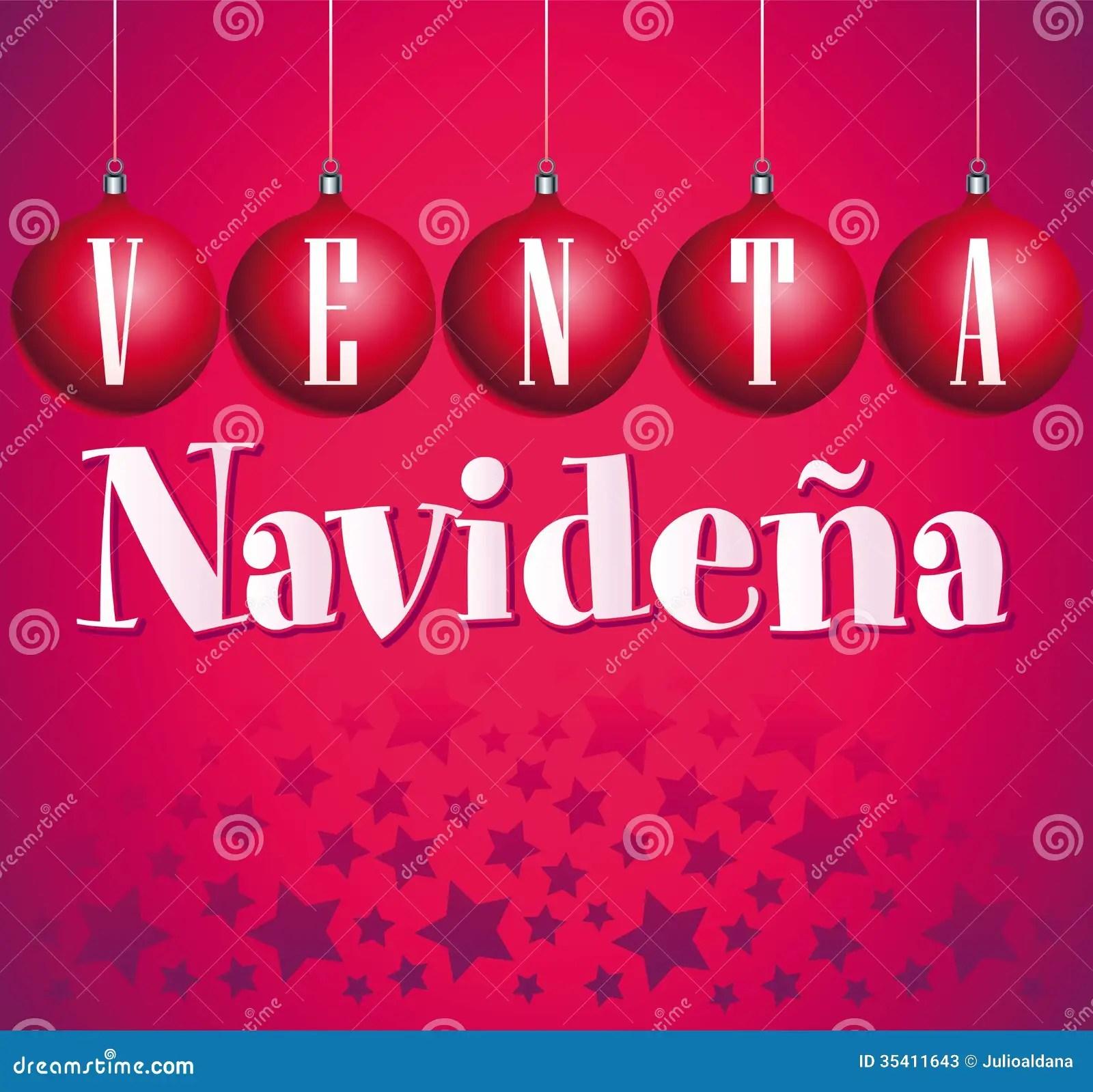 Venta Navidena Christmas Sale Spanish Stock Photos