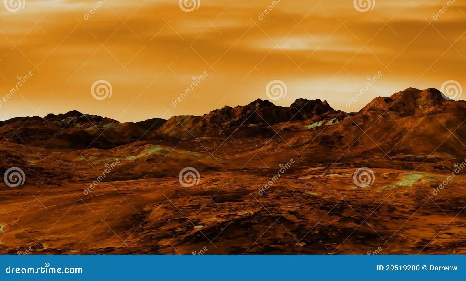 Venus Landscape Stock Photo  Image 29519200