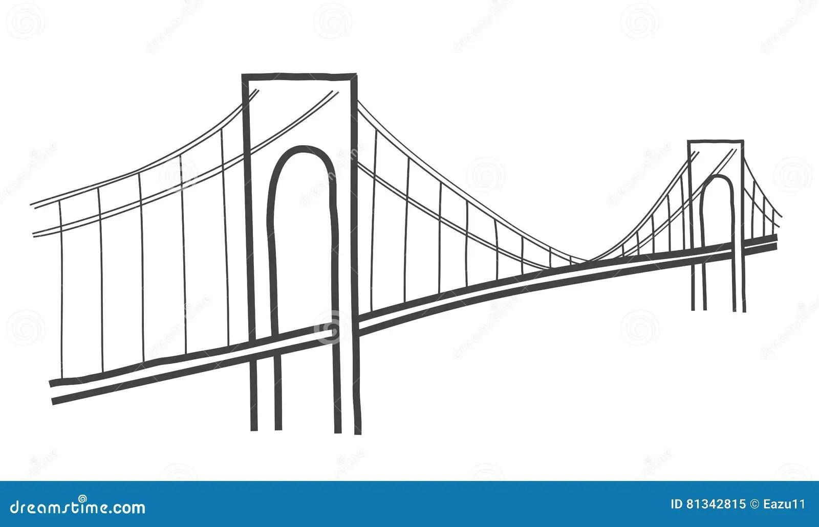 Verazzano Narrows Bridge Drawing Editorial Image