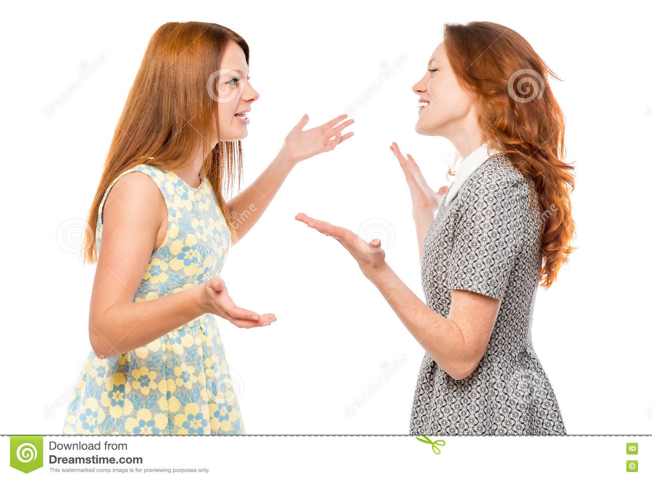 Verbal Communication Of Emotional Woman Stock Photo