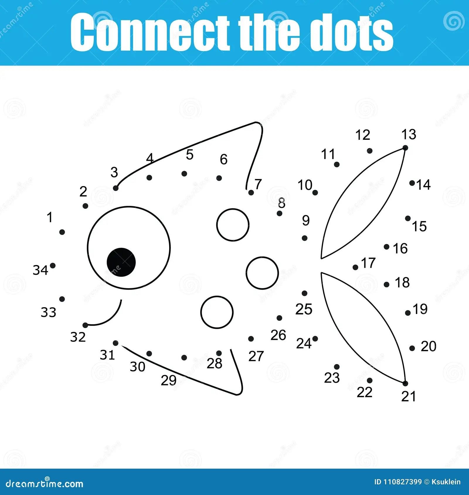 Verbind De Punten Door Het Onderwijsspel Van