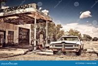 Verlassene Gaststtte Auf Weg 66 In New-Mexiko ...