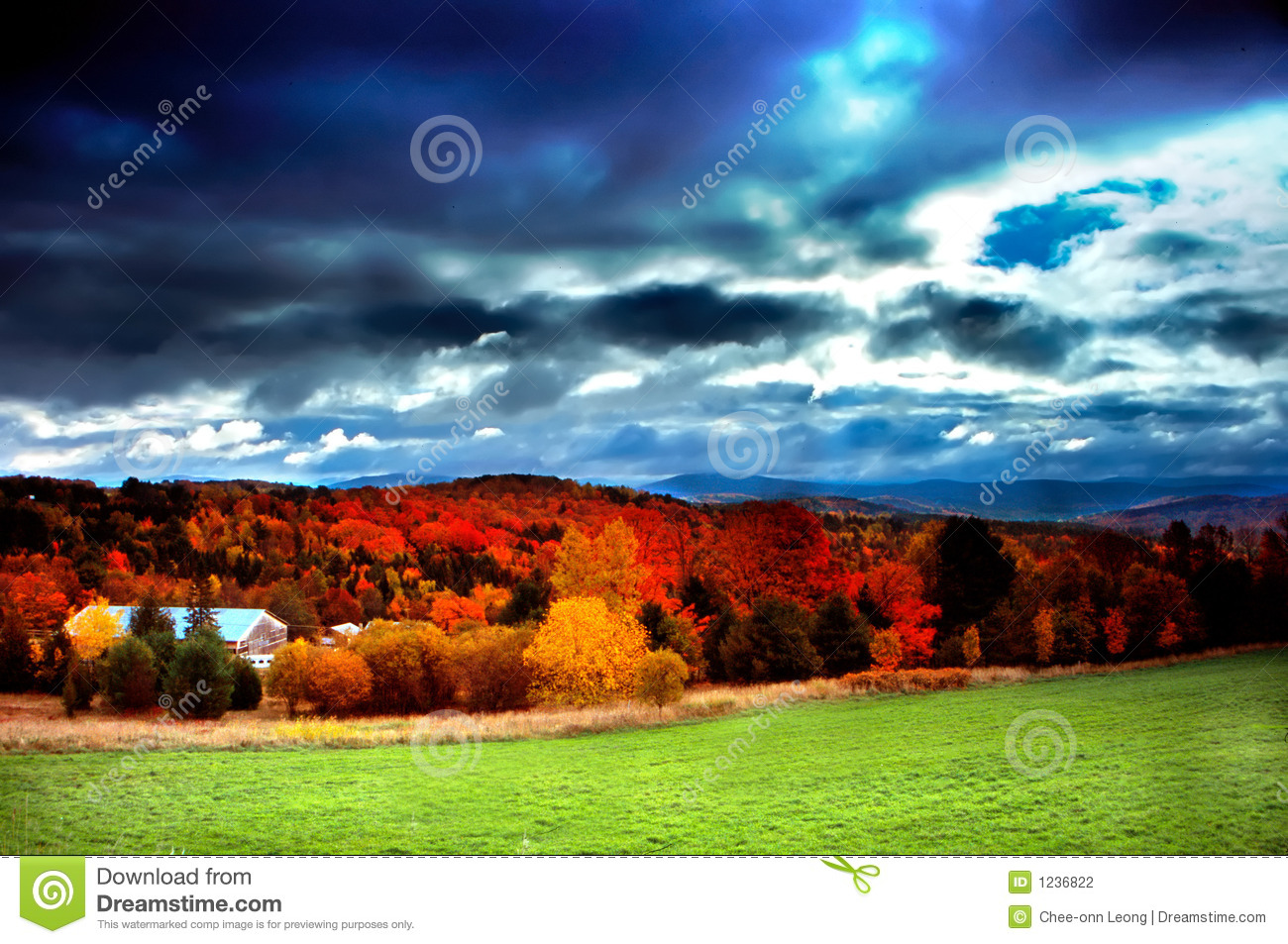 Wallpaper Fall Farmhouse Vermont Usa Stock Photo Image Of Autumn Countryside