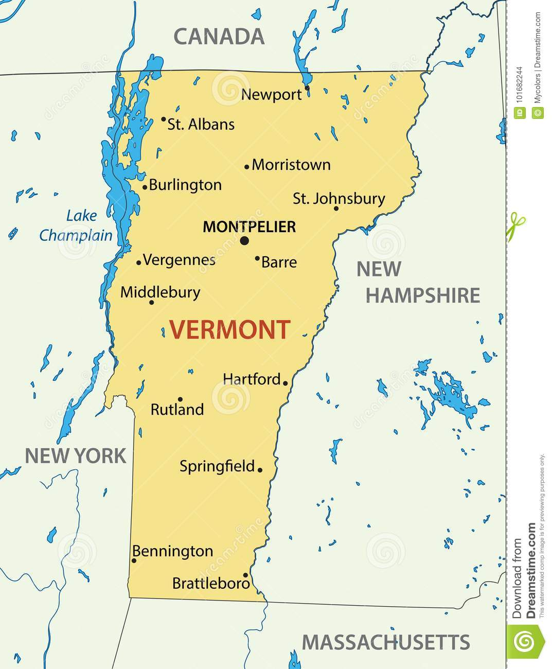 He has lived in vermont and other states. Vermont Vector Map Of Us State Stock Vector Illustration Of America Vermonter 101682244