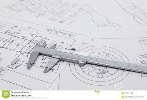 small resolution of vernier caliper lying on mechanical scheme