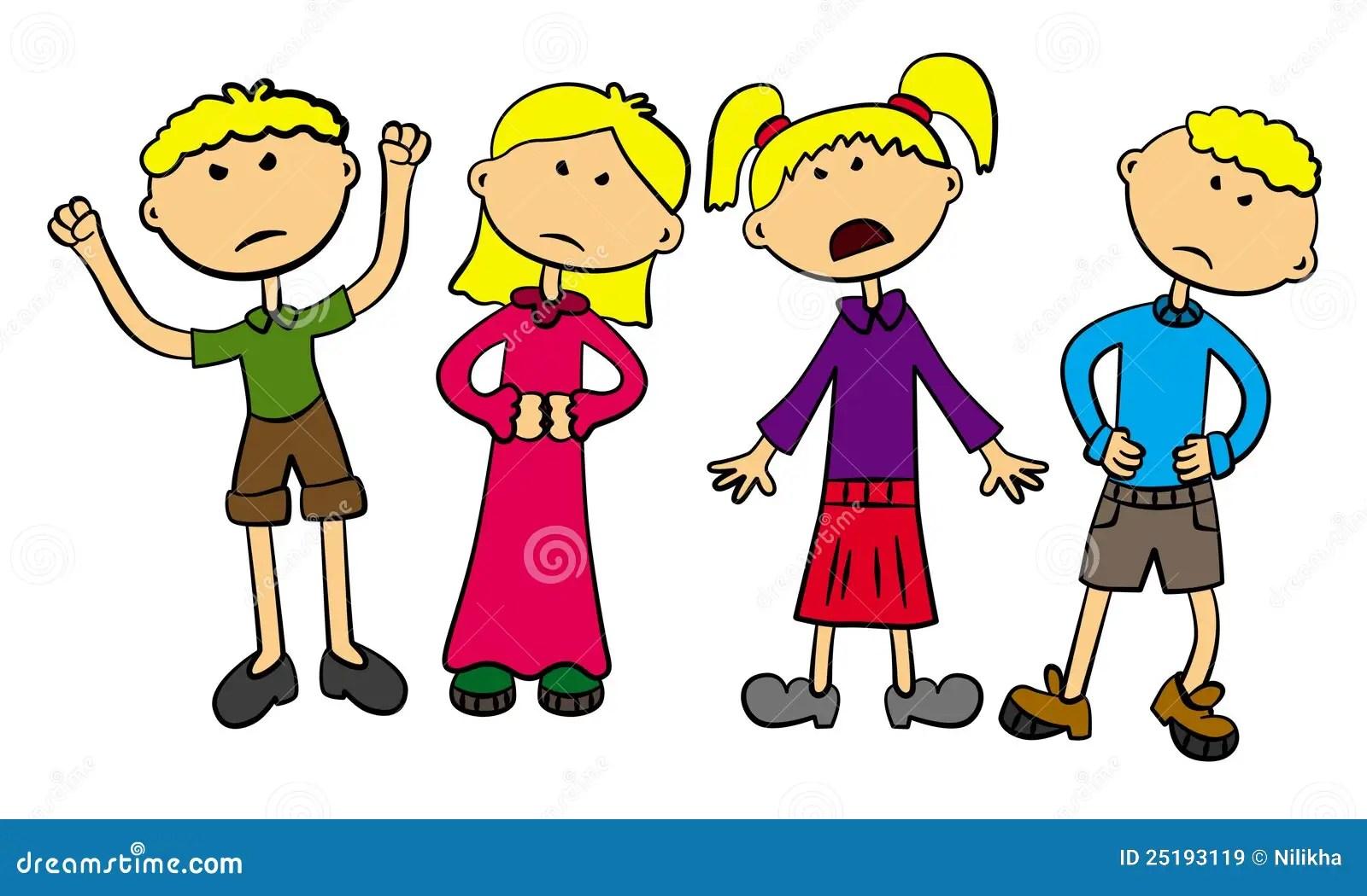 Verargerte Kinder Lizenzfreie Stockbilder