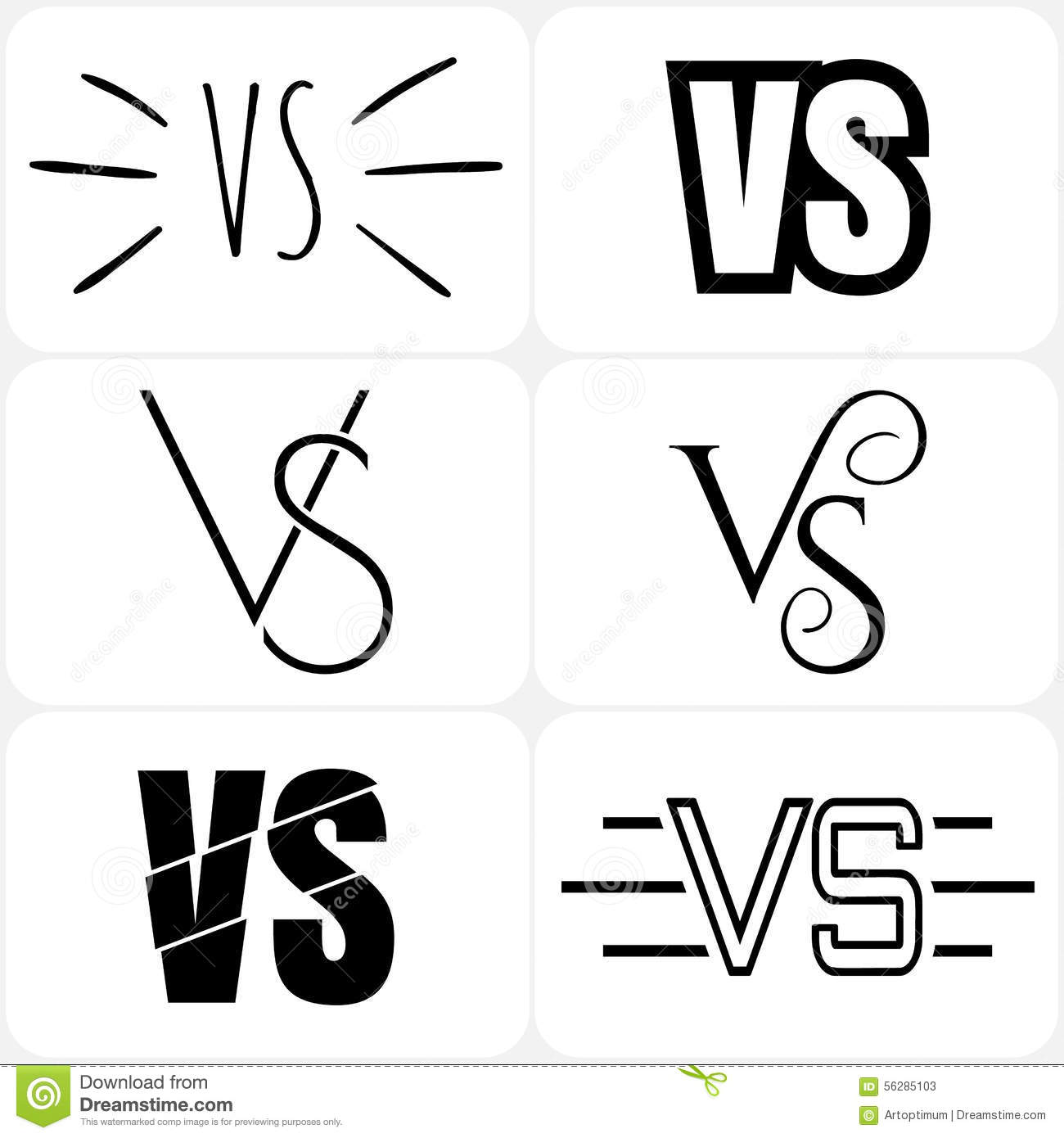 Versus Logo. VS Letters 3D Royalty-Free Stock Photography