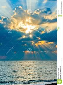Vertical Shot Of Beautiful Sky With Sun Rays Royalty