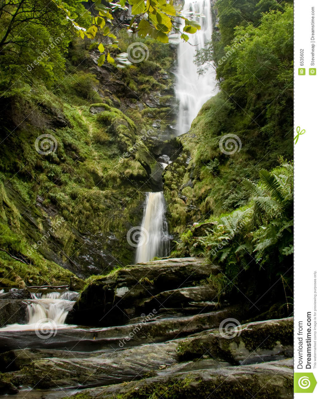 Fall River Wallpaper Vertical Waterfall In Wales Stock Photo Image 6535602