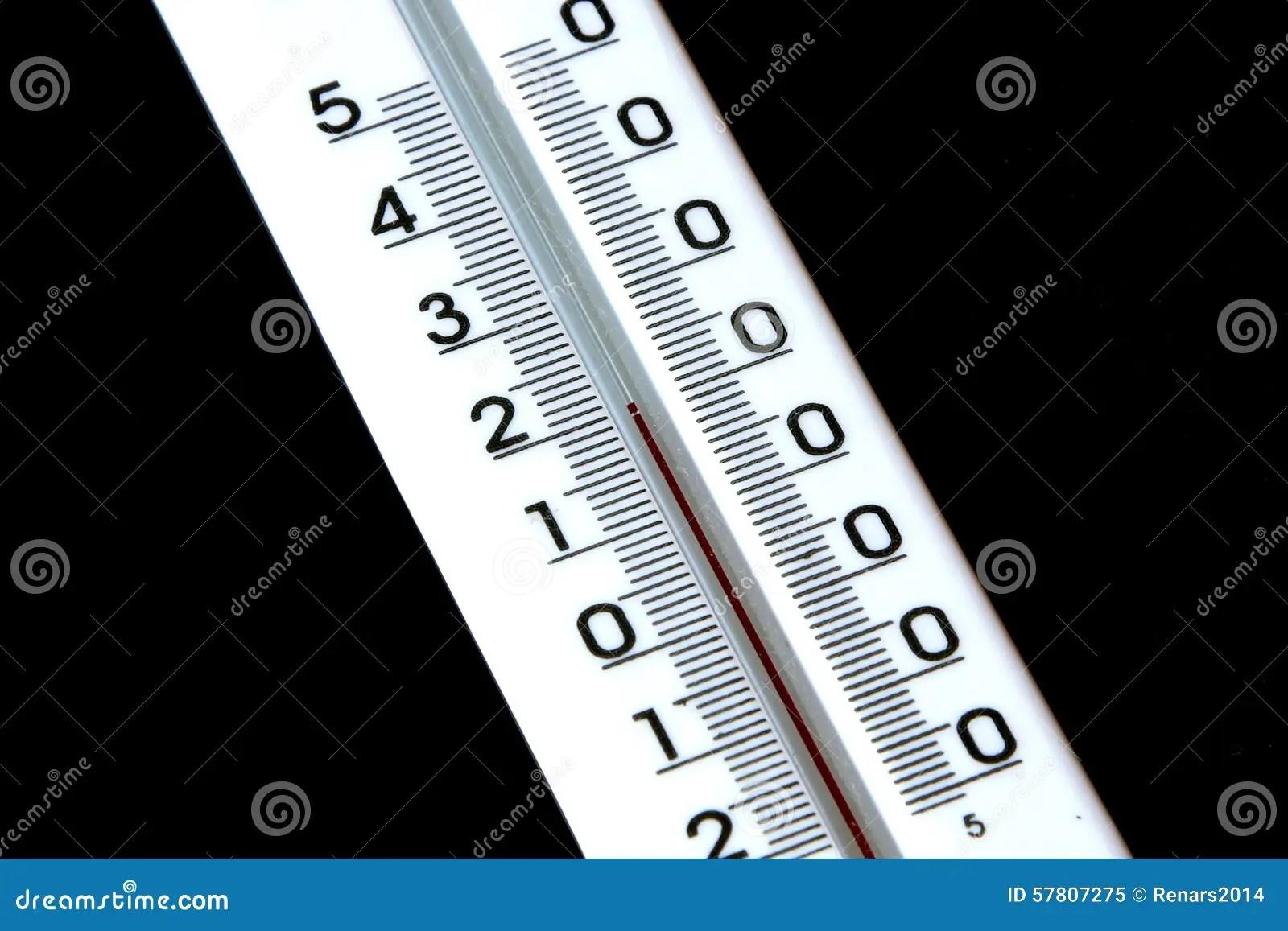 Very Comfortable Temperature Twenty Degrees Celsius Stock