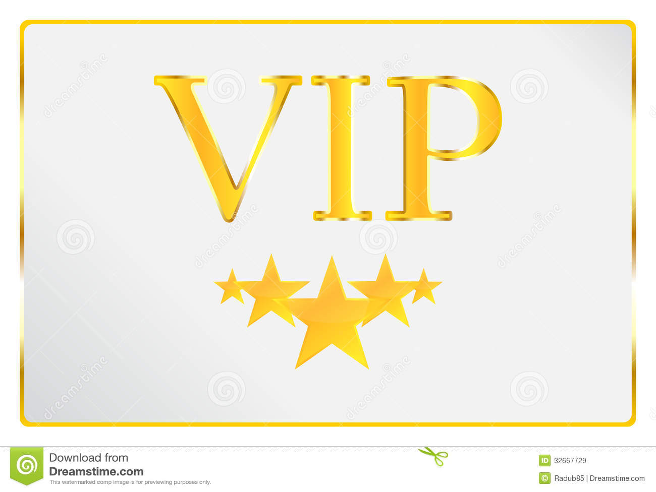 Very Important Person Card Royalty Free Stock Images