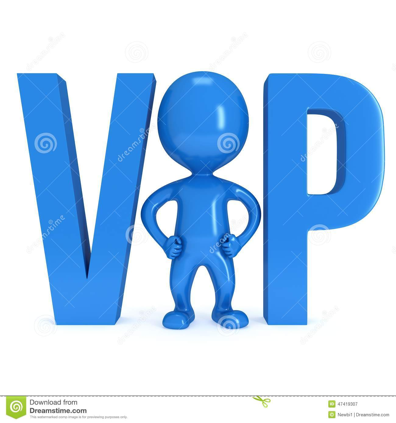 Very Important Person 3d Stock Illustration Illustration