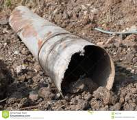 Very Old Water main pipes stock image. Image of corrosion ...