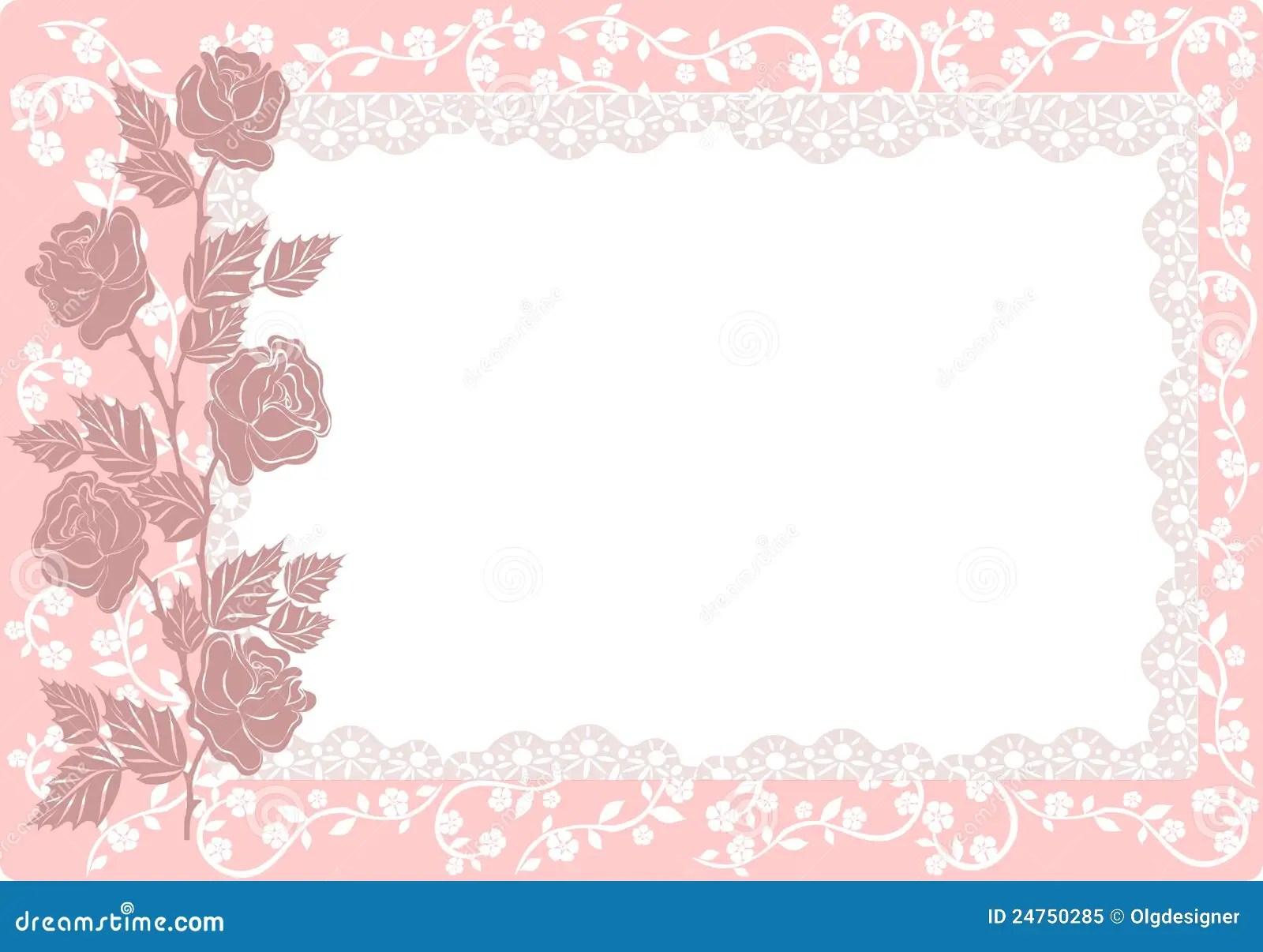 Verzierung Mit Rosen Vektor Lizenzfreies Stockfoto