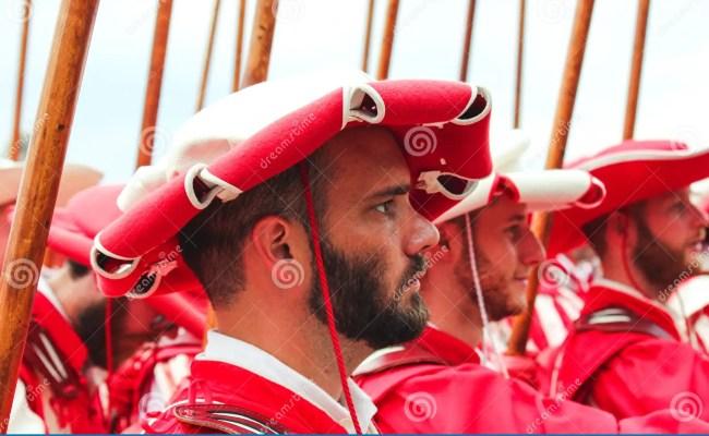 Vevey Switzerland Aug 1 2019 Traditional Parade On