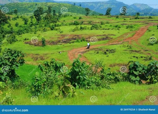 vibrant landscape with lone traveller