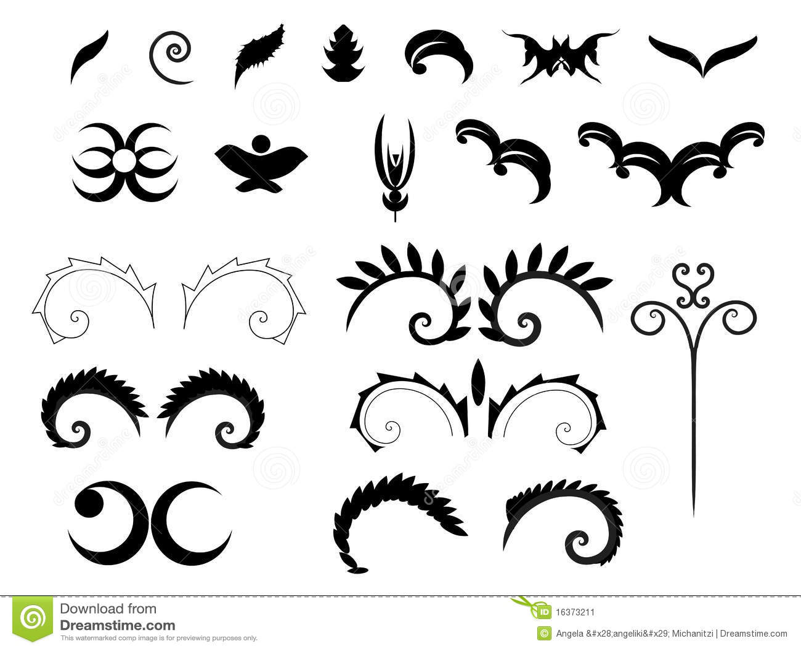 Victorian Decorative Shapes Stock Image