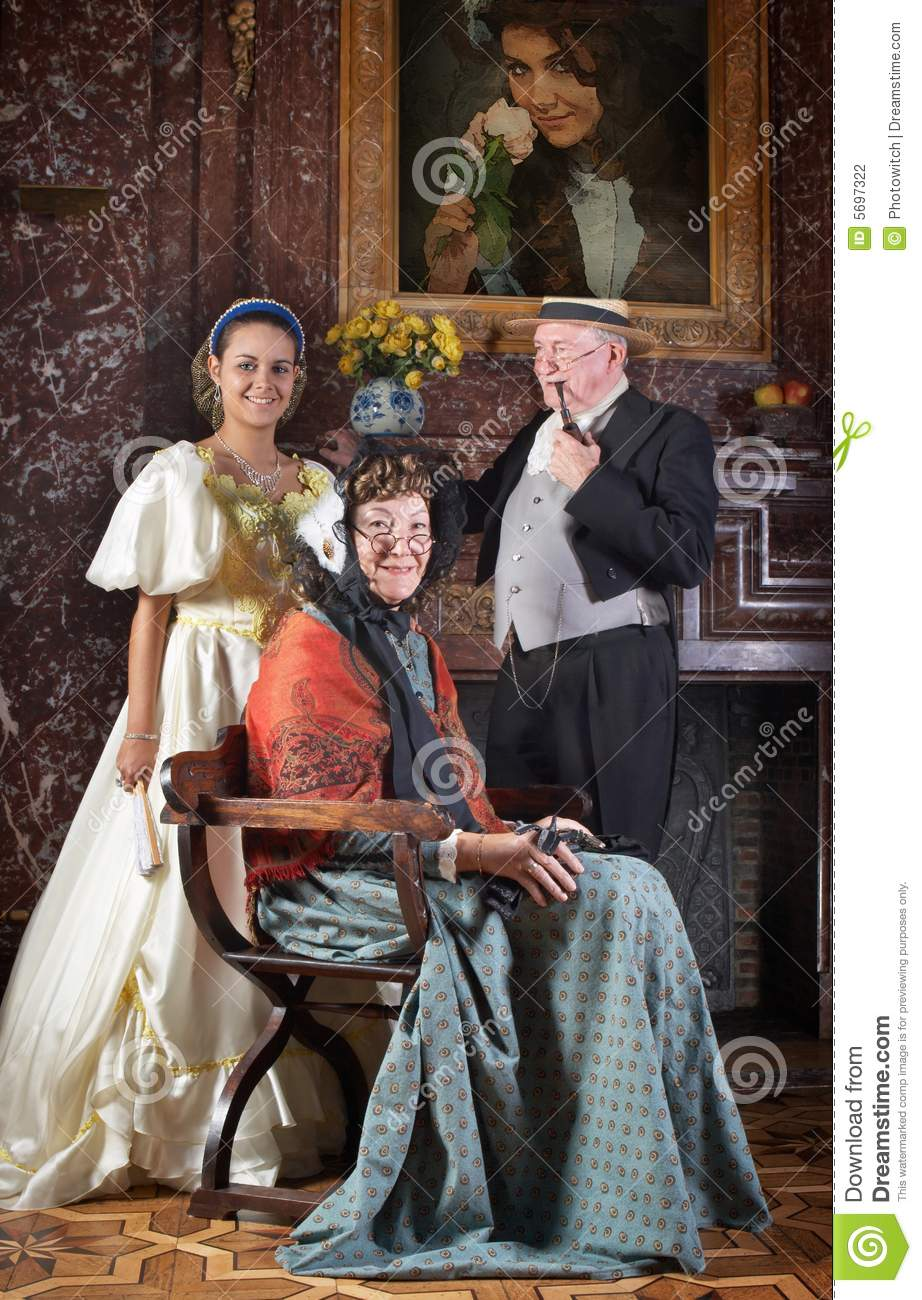 Victorian family portrait stock photo Image of living  5697322