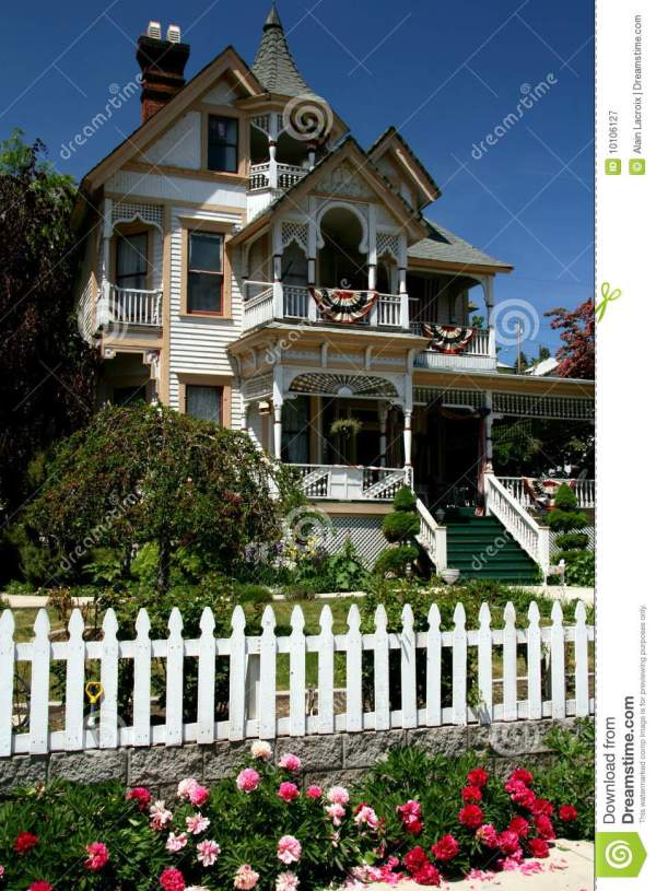 Victorian House Stock Of American Front