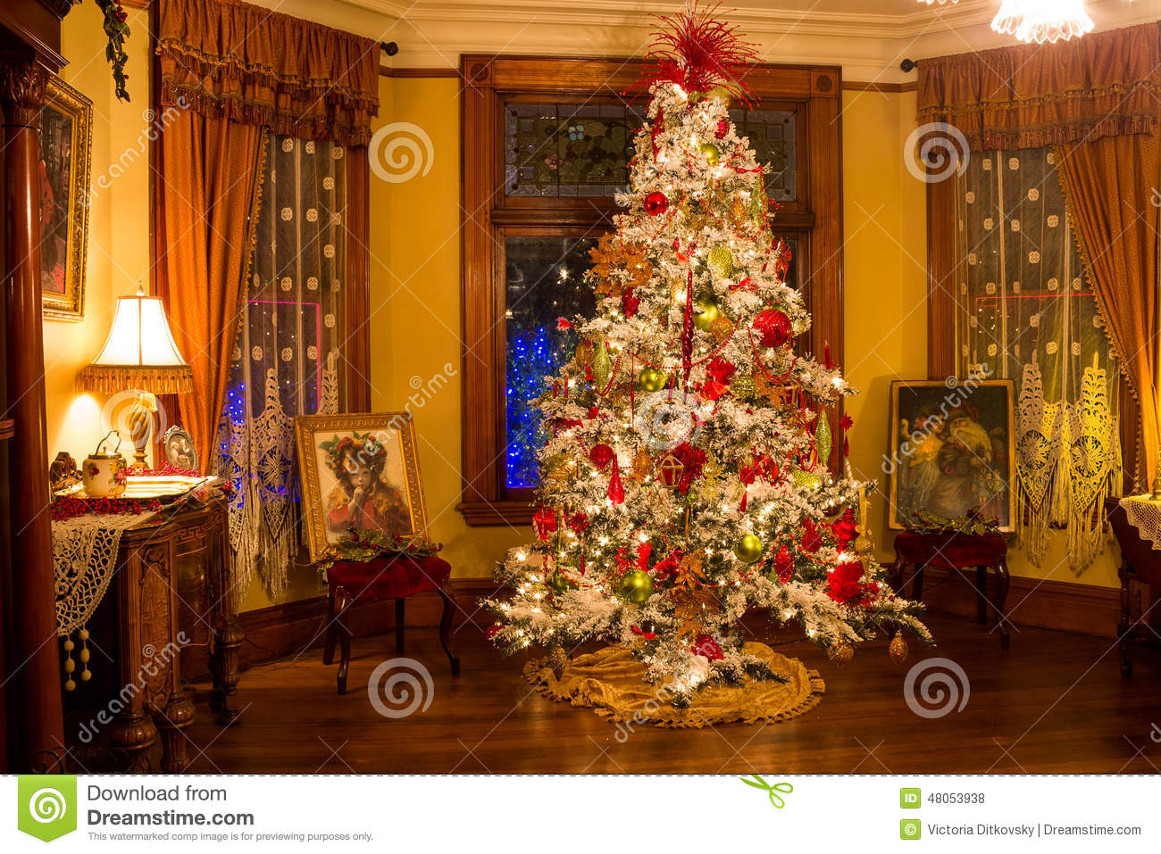Victorian Style Christmas Tree Editorial Stock Photo