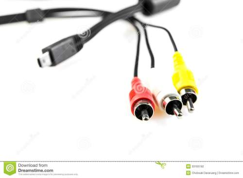 small resolution of download video and audio wire jack stock photo image of color 33165192