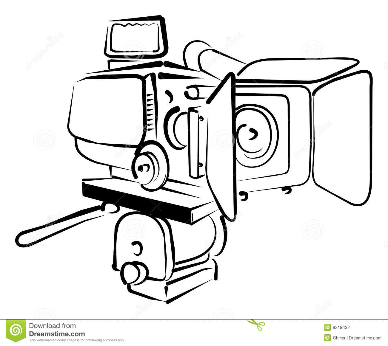 Video camera stock vector. Image of cinema, foto, isolate