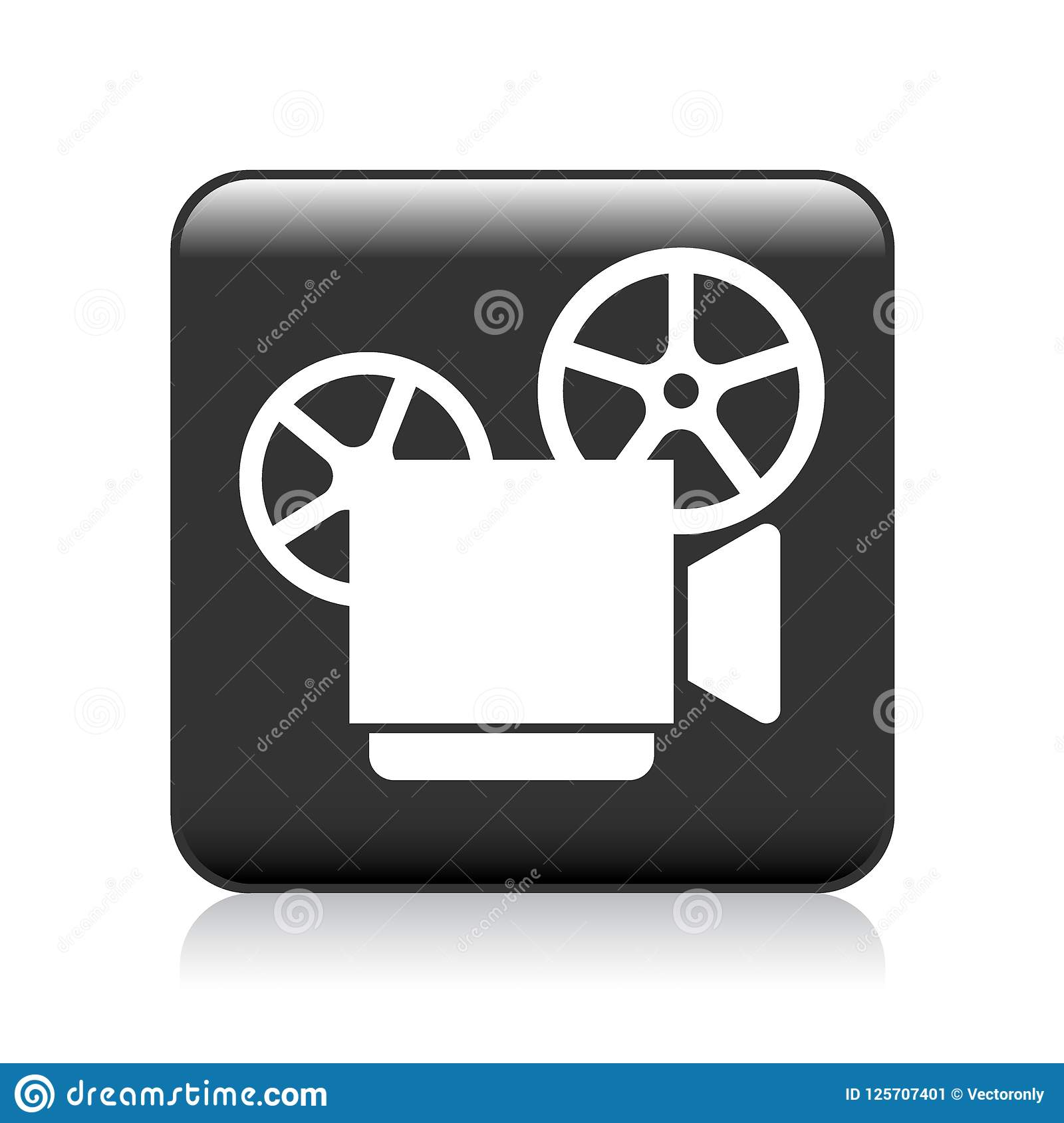 hight resolution of vector illustration on isolated white background video camera recorder icon
