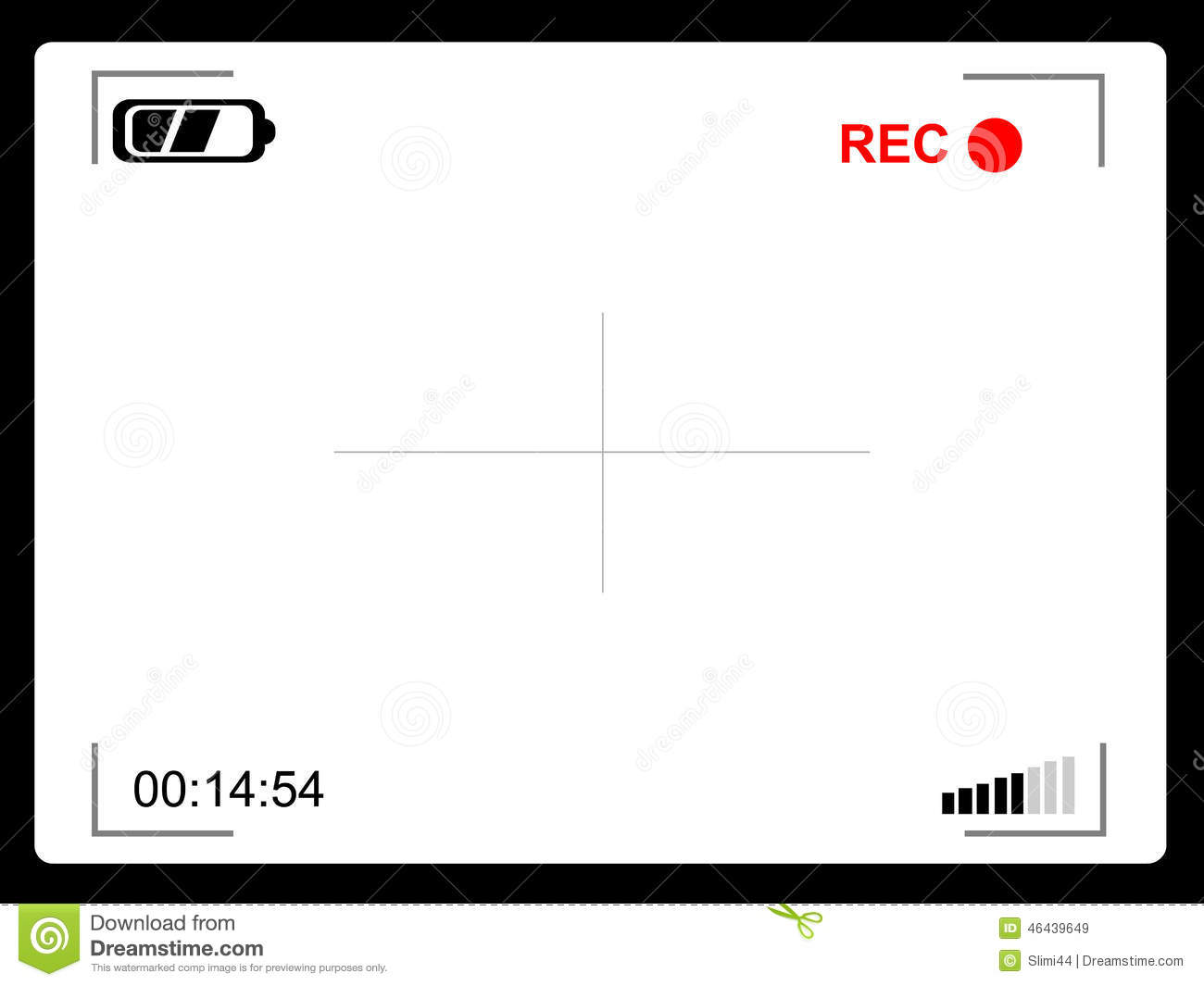 Video camera viewfinder stock vector. Illustration of lens