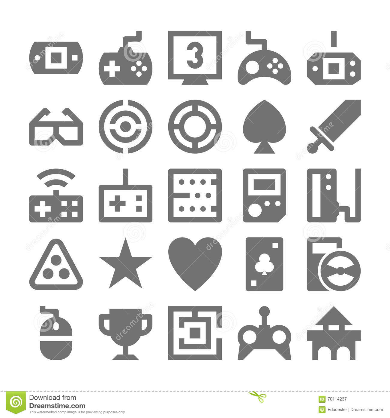 Video Game Vector Icons 3 Stock Illustration Image Of