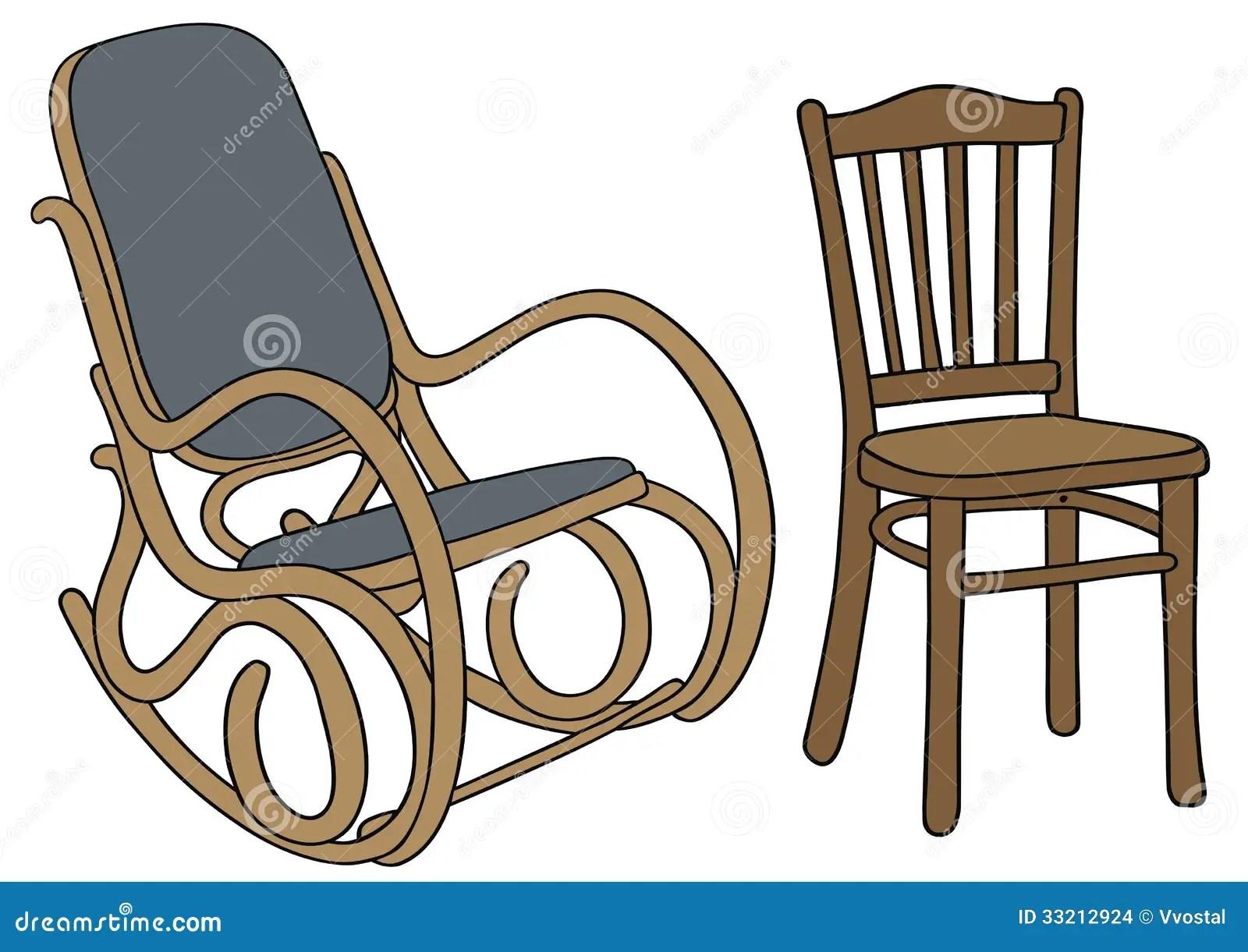 Vieille Chaise Illustration De Vecteur Illustration Du