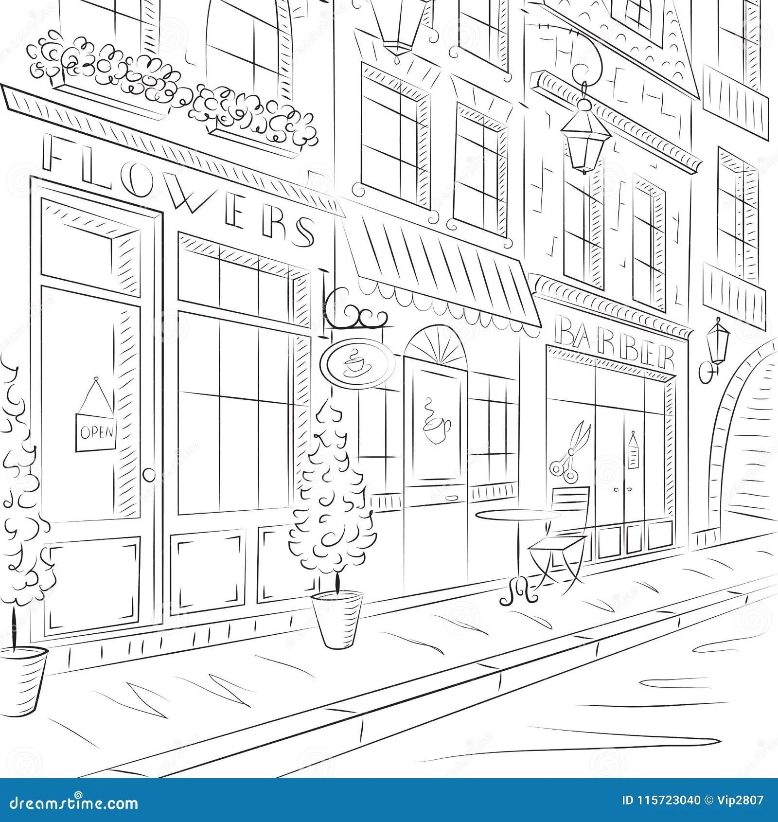 Vieille Ville, Rue Avec De Vieux Bâtiments, Cafés