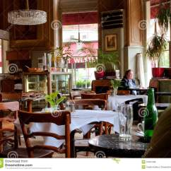 Chairs That Sit On The Floor Outside Table And Viennese Style Interior Design People Inside Editorial Stock Photo - Image: 31961468