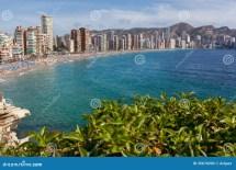View Of Benidorm Costa Blanca Spain Stock