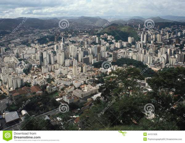 View Of The City Of Juiz De Fora Minas Gerais Brazil