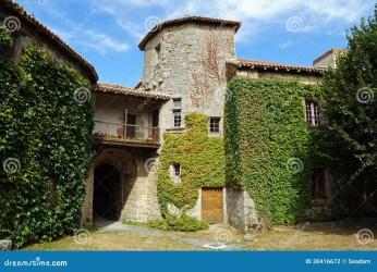 castle medieval courtyard france mortemart limousin europe