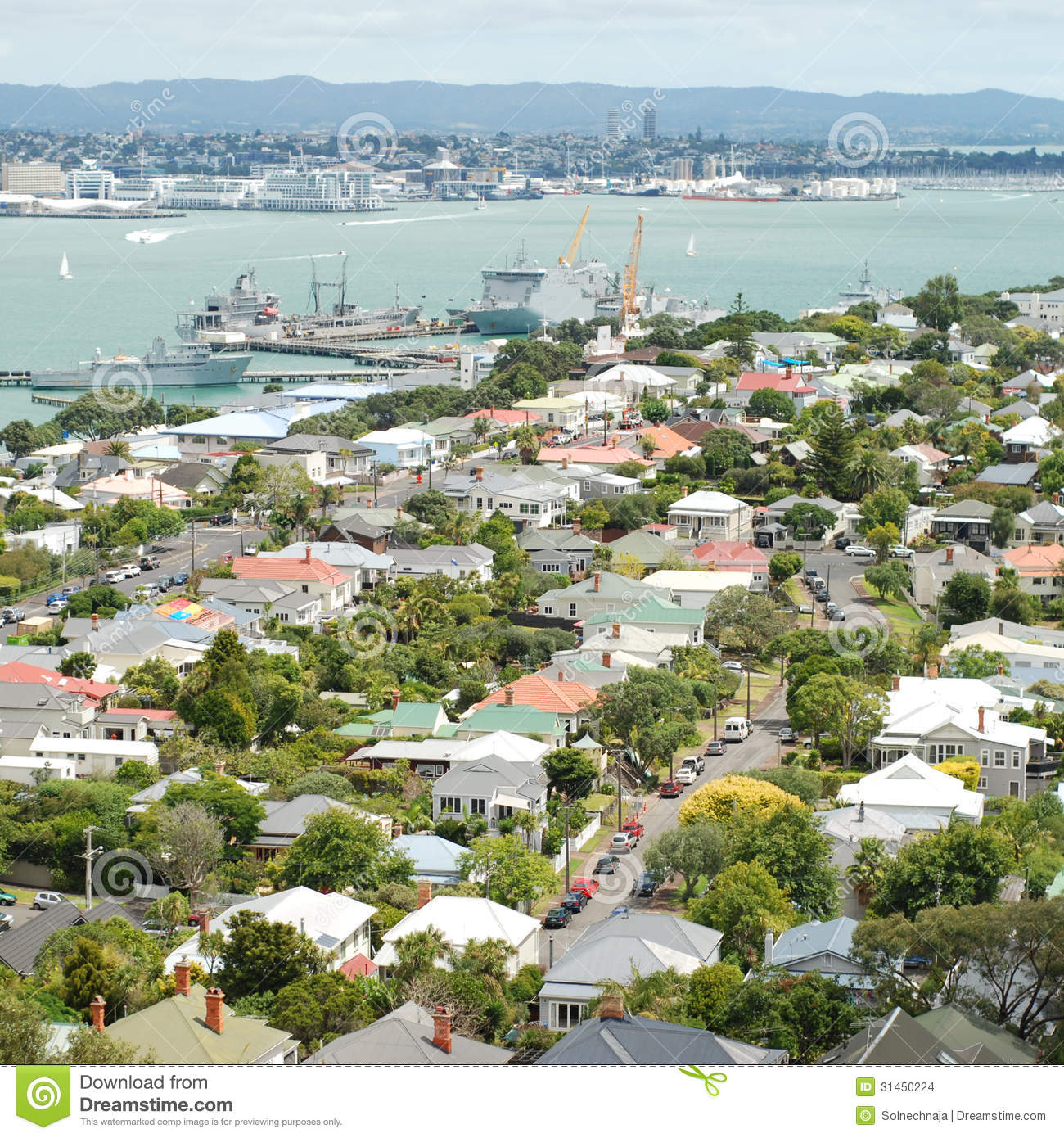 View Of Devonport Suburbs In Auckland Stock Images - Image: 31450224